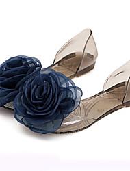 Women's Sandals Summer Comfort Rubber Casual Flat Heel Flower Black White Gold Others