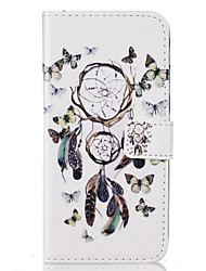 """Для Бумажник для карт / Флип / С узором Кейс для Чехол Кейс для Рисунок """"Ловец снов"""" Твердый Искусственная кожа HuaweiHuawei P9 / Huawei"""