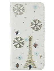 Bling Bling Crystal Diamond PU Leather Wallet Case Cover With Card Slots and Magnetic Flip For Samsung Galaxy Note5 4 3