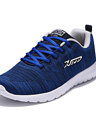 Men's Sneakers Spring / Fall Comfort Tulle Athletic Flat Heel Others / Lace-up Black / Blue / Gray Running
