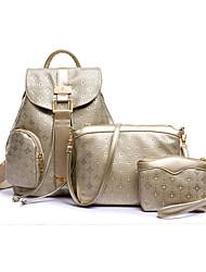 Damen PU Alltag / Im Freien Bag Sets Beige / Blau / Gold / Schwarz