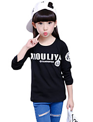 Girl's Casual/Daily Print TeeCotton Spring / Fall Black / White