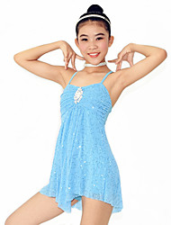 Dresses Women's / Children's Performance Spandex / Cascading Ruffle / Pearls / Pleated Ballet Sleeveless NaturalDress /