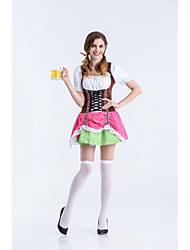 Adult Oktoberfest Costume Female Beer Festival Uniforms Red Beer Girl Cosplay  Women French Maid Costumes for  Halloween