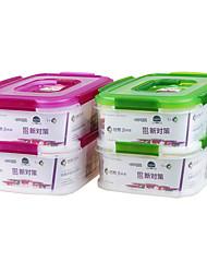 boîte cuisine rectangulaire déjeuner conteneurs de stockage empilables (2.3l * 2p)