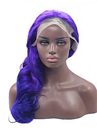 peluca rizado natural de color púrpura de encaje sintético delante de calor sin cola mujeres pelucas de cabello resistente