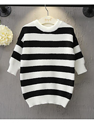 Girl's Casual/Daily Striped Sweater & CardiganAcrylic Winter / Fall Black