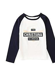 Tee-shirts Boy Imprimé Décontracté / Quotidien Coton Printemps / Automne Bleu