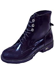 Mujer-Tacón Bajo-Confort-Botas-Exterior / Vestido / Casual-PU-Negro