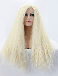 Sylvia Synthetic Lace front Wig Blonde Hair Heat Resistant Long Yaki Straight Synthetic Wigs