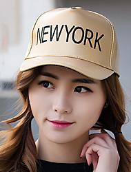 Women Men Casual Leather Alphabet Printing Fluorescent Gold Color Dome Baseball Outdoor Hip-Hop Sun Hat