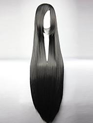 Mitsuhide 100cm de long droite noire synthétique des femmes de haute qualité lolita partie perruque cosplay Sengoku de basara-Akechi