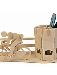 Пазлы Деревянные пазлы Строительные блоки DIY игрушки известные здания / Велоспорт 1 Дерево Со стразами