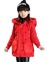 Girl's Casual/Daily Print BlouseCotton / Polyester Winter Brown / Pink / Red / White