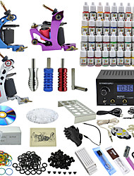 Ophir Tattoo Kit 3 Top Casting Tattoo Machine  54 Color Pigment Ink Power Supply Needle_TA006