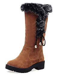 Women's Boots Fall / Winter Others Fur / Fleece Party & Evening / Dress / Casual Platform Bowknot / Fur Black / Brown / Yellow Others