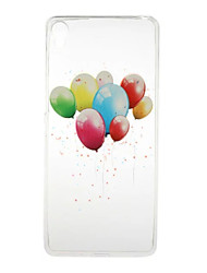 Pour Coque Sony Transparente / Motif Coque Coque Arrière Coque Ballon Flexible TPU pour SonySony Xperia X / Sony Xperia XA / Sony Xperia