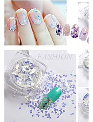 New Fashion Nail Glitter Powder Personal Design DIY Nail Art Decoration Colorful Nail Art Accessories 3D Nail Stickers