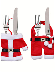 Christmas Table Decorations Knife And Fork Bag Christmas Cutlery Set Small Clothes Weihnachten Dekoration Gifts