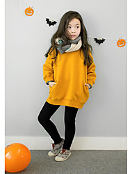 Girl's Casual/Daily Solid Hoodie & SweatshirtCotton Winter / Fall Red / Yellow