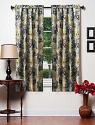 Um Painel Tratamento janela Designer , camuflagem Sala de Estar Poliéster Material Cortinas cortinas Decoração para casa For Janela