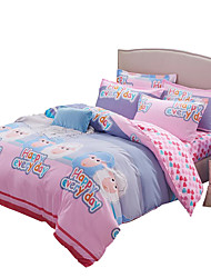 Mingjie Wonderful Blue and Pink Sheep Bedding Sets 4PCS for Twin Full Queen King Size from China Contian 1 Duvet Cover 1 Flatsheet 2 Pillowcases
