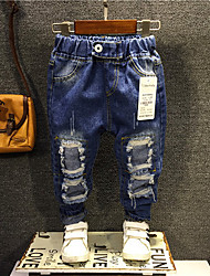 Boy's Casual/Daily Solid JeansCotton Spring Blue