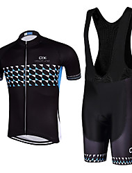 Sports QKI Cycling Jersey with Bib Shorts Unisex Short Sleeve BikeBreathable / Quick Dry / Anatomic Design / 5D coolmax gel pad