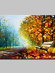 Hand-Painted Knife Landscape Oil Painting On Canvas Modern Abstract Wall Art Picture For Home Decoration Ready To Hang