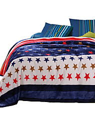 Super Soft Multi-color,Printed Novelty 100% Polyester Blankets W200*L230cm