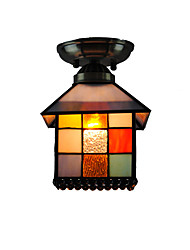 20cm Retro Tiffany Ceiling Lamp Glass Shade Flush Mount Living Room Bedroom Dining Room Kids Room light Fixture