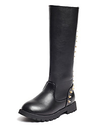 Girl's Boots Comfort PU Casual Black