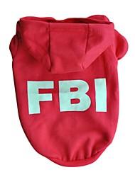 Chat / Chien Pulls à capuche Rouge / Noir Vêtements pour Chien Eté / Printemps/Automne Police/Militaire Décontracté / Quotidien