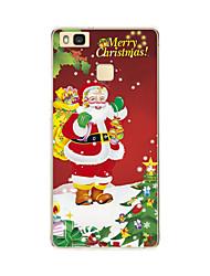 Para Traslúcido / Diseños Funda Cubierta Trasera Funda Navidad Suave TPU Huawei Huawei P9 / Huawei P9 Lite / Huawei P8 / Huawei P8 Lite