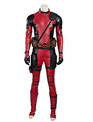 Cosplay Costumes Super Heroes Movie Cosplay Red Solid Leotard/Onesie / Gloves / Belt / Mask / More AccessoriesHalloween / Christmas /