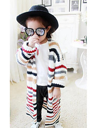 Girl Casual/Daily Striped Suit & Blazer,Cotton Fall Long Sleeve