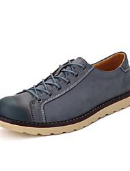 Herren-Sneaker-Lässig-PU-Flacher Absatz-Komfort-Schwarz Braun Rot Grau