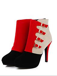 Черный / Синий / Красный-Женский-На каждый день-Материал на заказ клиента-На толстом каблуке-Others-Ботинки