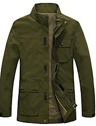 Wandern Softshell Jacken Herrn Wasserdicht / Atmungsaktiv / warm halten / Rasche Trocknung / Windundurchlässig / tragbar Frühling / Herbst