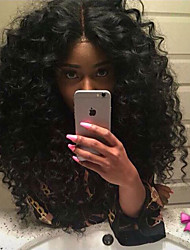 High Density Curly Synthetic Lace Front Wigs Deep Curl Heat Resistant Sale