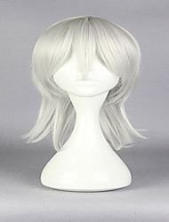 Japanese Game ToukenRanbu TsurumaruKuninaga 50cm Men Grey White Fashion High Quality Anime Cosplay Wig