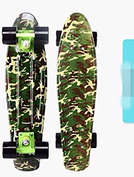 The new  PP plastic plate high-grade water transfer printing small fish skateboard Children round the skateboard