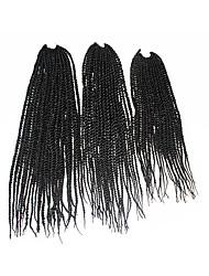 Senegal Twist Braids Haarverlängerungen 18Inch+20Inch+22Inch Kanekalon 81 Strands Strand 200g Gramm Haar Borten