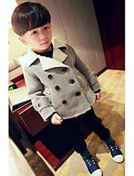 Boy's Casual/Daily Solid Jacket & CoatCotton Winter / Fall Gray