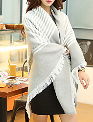 Women Polyester Scarf,Casual SquarePrint