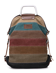 Casual Outdoor Backpack Women Canvas Polyester Multi-color