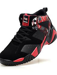 Femme-Sport-Bleu Noir et rouge Noir et blanc-Talon Plat-Confort-Chaussures d'Athlétisme-Polyuréthane