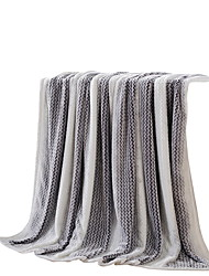 Flanelle Gris,Solide Solide 100 % Polyester couvertures 200x230cm