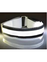 dos envasados para su venta llevó resplandor brazo de luz de advertencia del flash en marcha el brazalete reflectante