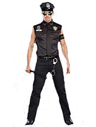 Male Police Costumes Boys Halloween Costume for Men
